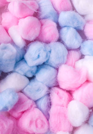 New colore Cotton balls, abstact multicolored background