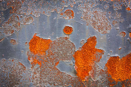 Old metal surface  with cracked paint