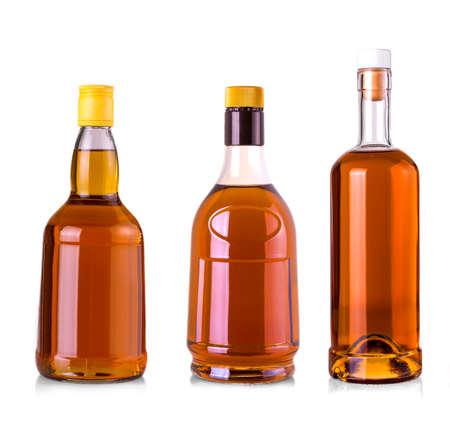 turba: Set of Beautiful Whisky Bottles against well lit background
