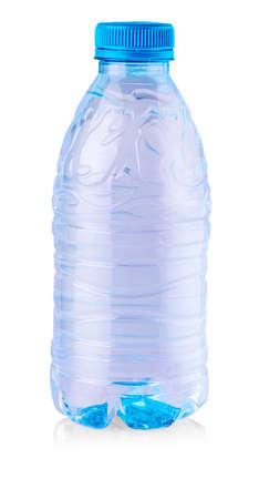 Plastic blue bottle isolated on white background Stock Photo