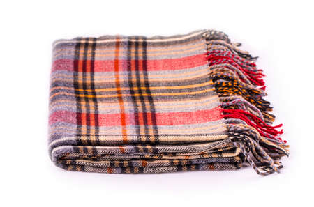 Colore  winter wool scarf with pattern isolated on white