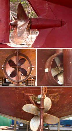 Set of screw vessel for woods slipway at a shipyard in Kamchatka