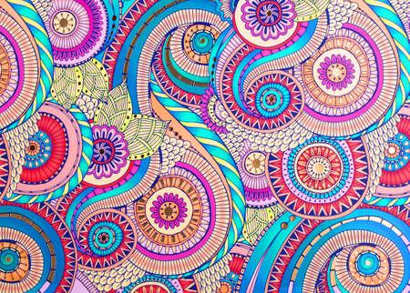 Texturfarbenes Ornament auf Papier