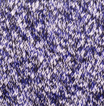 the blue knitting wool texture background Stock Photo