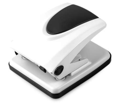 Hole punch (office accessory) isolatade on white background Zdjęcie Seryjne