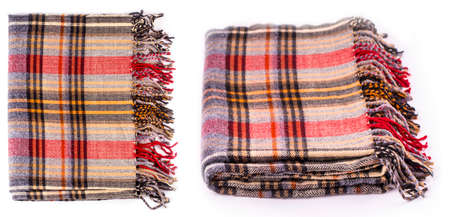 The Colore  winter wool scarf with pattern isolated on white