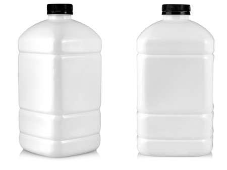 The large white plastic bottle isolated on white background