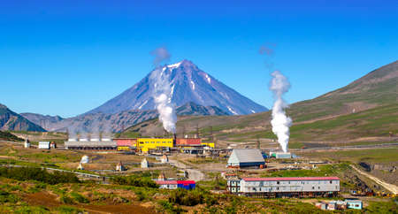 Geothermal power station alternative energy on Kamchatka Peninsula