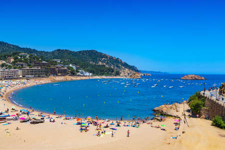 the beach in Tossa de Mar, Costa Brava, Spain