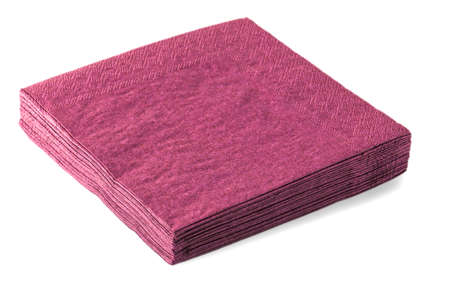red napkins isolated on white background