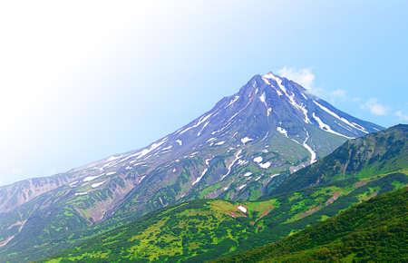 typical sleeping volcano: Vilyuchinsky volcano (Russia, Kamchatka).