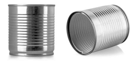 The silver can isolated on white background