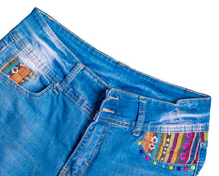 Male blue jeans isolated on white background Imagens