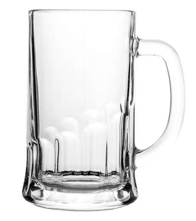 Empty beer mug isolated on white background Banco de Imagens
