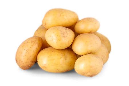 The raw potato isolated on white background