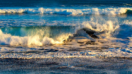 waves on the Pacific ocean on the Kamchatka Peninsula