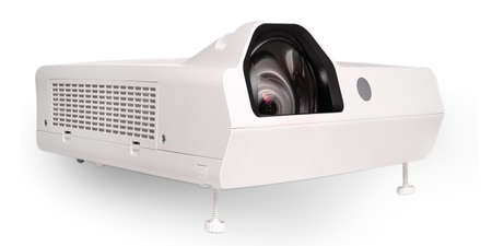 Projector multimedia white colour on white background