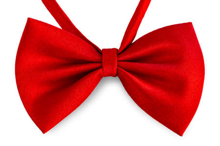 red bow ribbon isolated on white background 스톡 콘텐츠