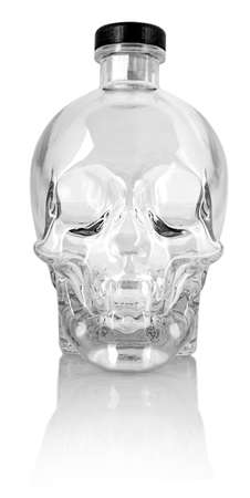 Skull Jar Glass for Vodka Drinks and Cocktails