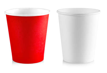 the paper cup isolated on white background Stock Photo