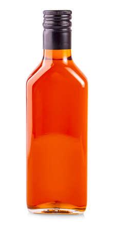 bottle of sea buckthorn oil isolated on white background