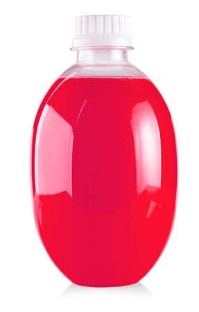 Plastic bottle of  cherry isolated on white background