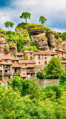 Rupit, a medieval village in the middle of nature. Catalonia, Osona.