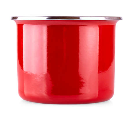 New Red pot isolated on white background