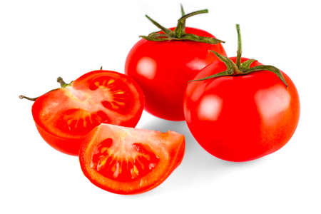 The Fresh Tomatoes isolated on white backgrond. Banco de Imagens