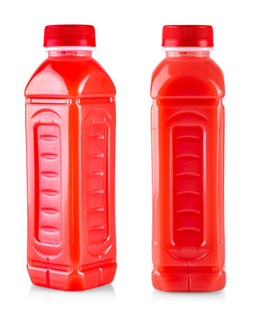 fruit smoothie juice in a bottle isolated on white background Stock Photo