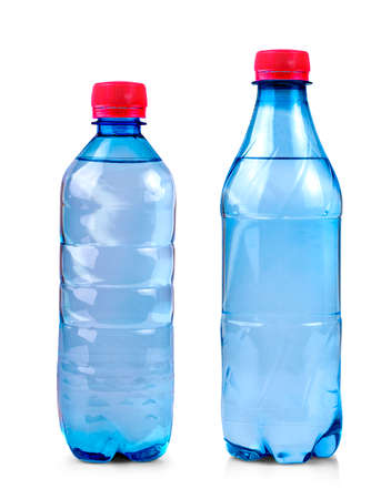 The water bottle isolated on white with clipping path