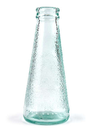 The Vintage Glass Bottle Isolated on White Background
