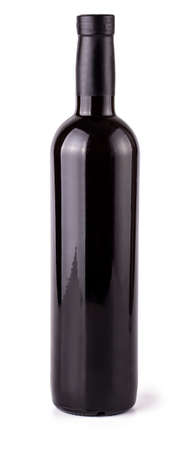 The red wine bottle isolated over white background Stok Fotoğraf - 132262478