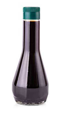 The soy sauce bottle isolated on white background