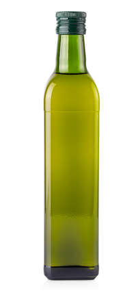 The Olive oil bottle isolated on white background Stok Fotoğraf - 132272534