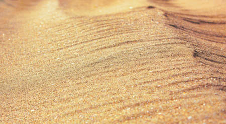 The closeup of sand pattern of a beach in the summer Stok Fotoğraf - 132447088