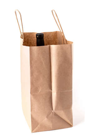 the blank  paper bag on white background Stok Fotoğraf - 132272987