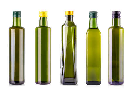 The bottles of olive oil isolated on a white background. clipping path.