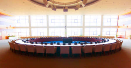 The blurry round table in the conference room Stok Fotoğraf