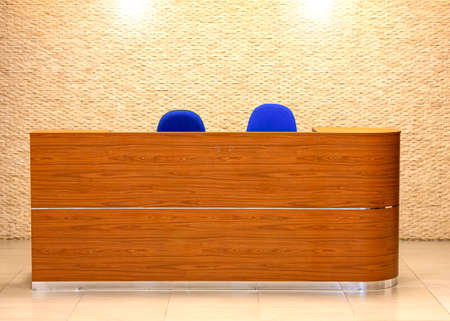 The Reception desk in the hall of the office