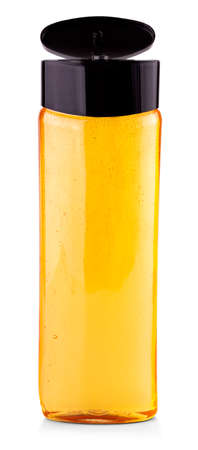 The Yellow Shampoo bottle on a white background