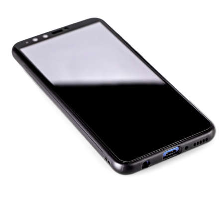 The Mobile smart phone on white background technology