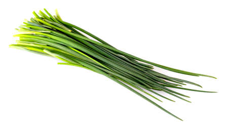 The Green onion isolated on the white background