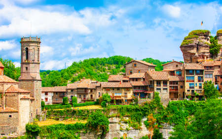Rupit i Pruit - Medieval Catalan village in the subregion of the Collsacabra, Spain Stock fotó