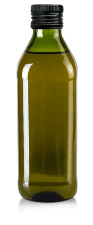The bottle of olive oil isolated on a white background. Stok Fotoğraf