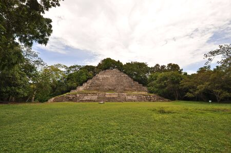 tourism in belize: Old Mayan Temple Stock Photo