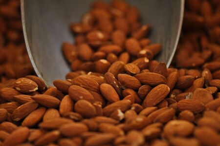 Tasty and Delicious Almonds ready to be eaten as healthy snack