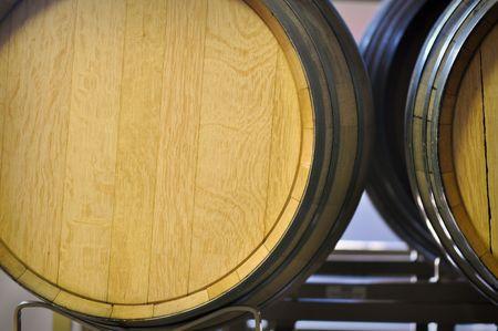 Barrel used to store vintage Wine photo