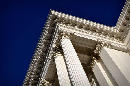 grecian: PillPillar of Success at a California Government Building Stock Photo