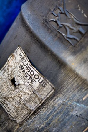 hazardous waste: Hazardous and Toxic Waste Barrels storing pollution